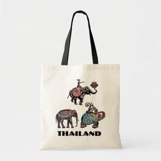 Shopping Bag Fair Trade Beach Bag Red Elephant Cotton Canvas Tote Bag