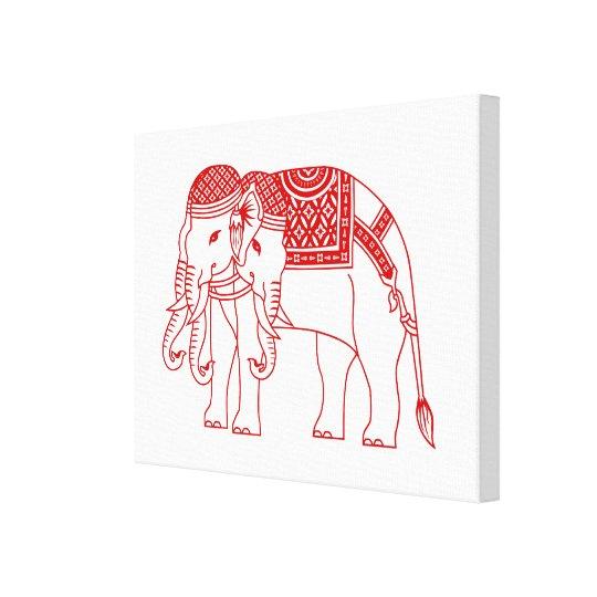 Thai Erawan White Elephant Canvas Print