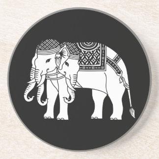 Thai Erawan White Elephant Drink Coaster
