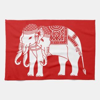Thai Erawan White Elephant Kitchen Towel