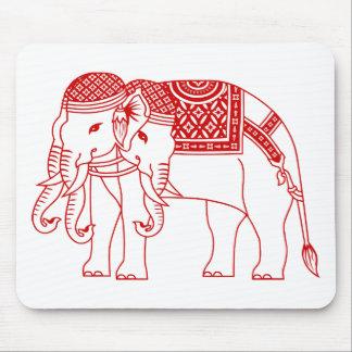 Thai Erawan White Elephant Mouse Pad