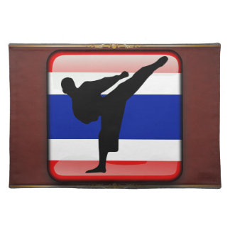 Thai flag cloth placemat