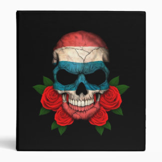Thai Flag Skull with Red Roses Binders