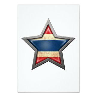 "Thai Flag Star 3.5"" X 5"" Invitation Card"