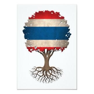 "Thai Flag Tree of Life Customizable 3.5"" X 5"" Invitation Card"