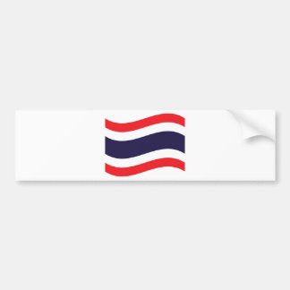 Thai Flag Wave Bumper Sticker
