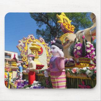 Thai flower sculptures mouse pad