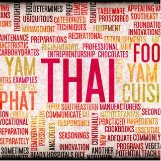 Thai Food and Cuisine Menu Background Cutout