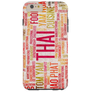 Thai Food and Cuisine Menu Background Tough iPhone 6 Plus Case