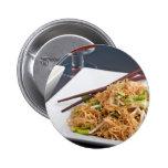 Thai Food Lo Mein Noodles Dish 2 Inch Round Button