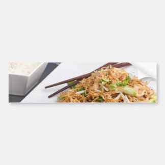 Thai Food Lo Mein Noodles Dish Bumper Sticker