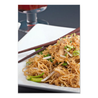 Thai Food Lo Mein Noodles Dish Card
