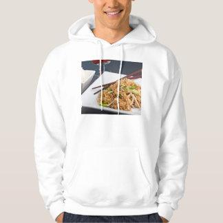 Thai Food Lo Mein Noodles Dish Hoodie