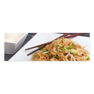 Thai Food Lo Mein Noodles Dish Mini Business Card