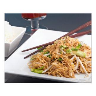 Thai Food Lo Mein Noodles Dish Photo Art