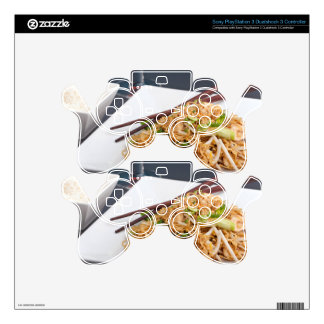 Thai Food Lo Mein Noodles Dish PS3 Controller Skins