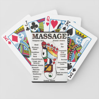 Thai Foot Massage ~ Reflexology map Bicycle Playing Cards