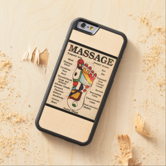 Thai Foot Massage ~ Reflexology map Carved® Maple iPhone 6 Bumper Case