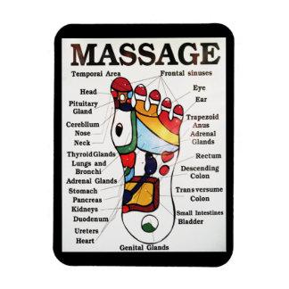 Thai Foot Massage ~ Reflexology map Magnet