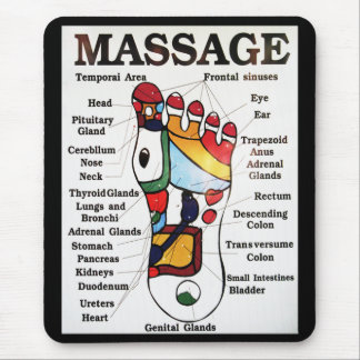 Thai Foot Massage ~ Reflexology map Mouse Pad