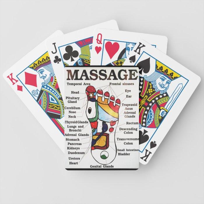 Thai Foot Massage ~ Reflexology map Bicycle Card Deck