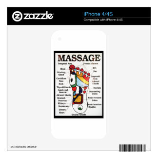 Thai Foot Massage ~ Reflexology map Decal For The iPhone 4S