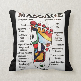 Thai Foot Massage ~ Reflexology map Throw Pillow