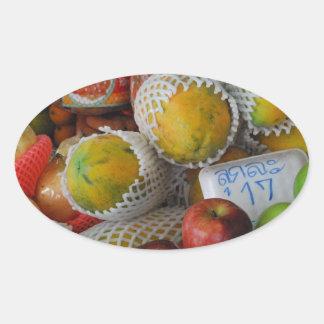 Thai Fruit Oval Sticker