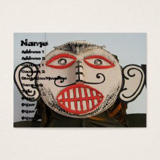 Thai Ghost Face, Phi Ta Khon Mask Festival, Loei Business Card