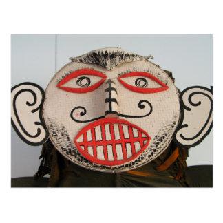 Thai Ghost Face, Phi Ta Khon Mask Festival, Loei Postcard