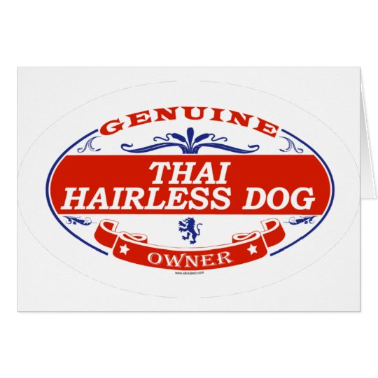 THAI HAIRLESS DOG_ CARD