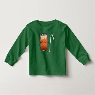 Thai Iced Tea & Bendy Straw - Happy Drink Thailand Toddler T-shirt