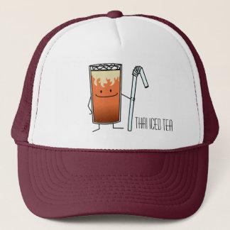 Thai Iced Tea & Bendy Straw Happy Drink Thailand Trucker Hat