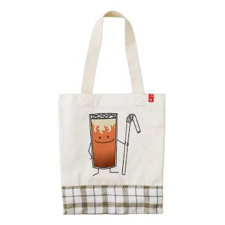Thai Iced Tea & Bendy Straw Happy Drink Thailand Zazzle HEART Tote Bag