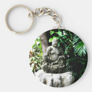 Thai Laughing Buddha in Garden Keychains