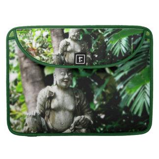 Thai Laughing Buddha in Garden macbook sleeve MacBook Pro Sleeves