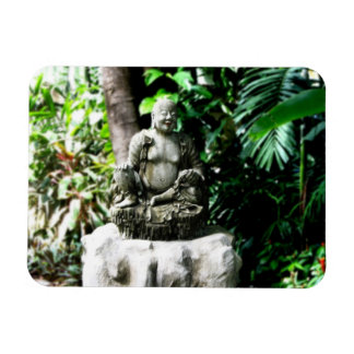 Thai Laughing Buddha in Garden magnet