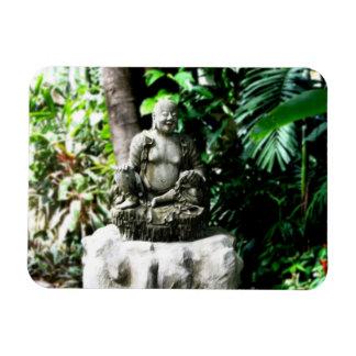Thai Laughing Buddha in Garden magnet