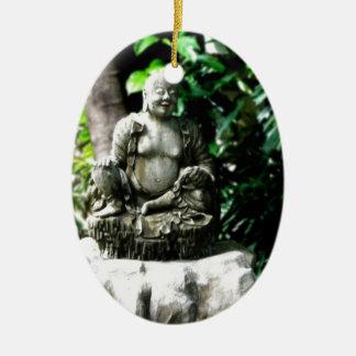 Thai Laughing Buddha in Garden Christmas Ornaments
