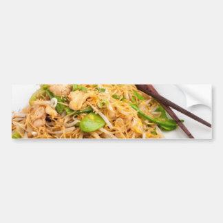 Thai Lo Mein Noodle Stir Fry Bumper Sticker