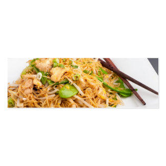 Thai Lo Mein Noodle Stir Fry Double-Sided Mini Business Cards (Pack Of 20)
