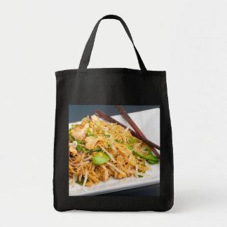 Thai Lo Mein Noodle Stir Fry Grocery Tote Bag