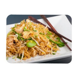 Thai Lo Mein Noodle Stir Fry Rectangular Photo Magnet