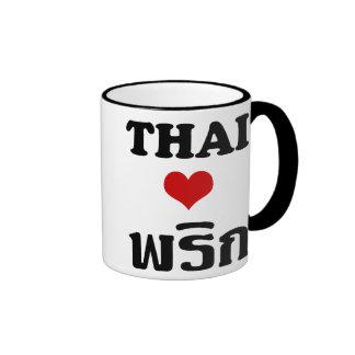 THAI LOVE PHRIK (CHILI) ❤ Thai Food Ringer Coffee Mug