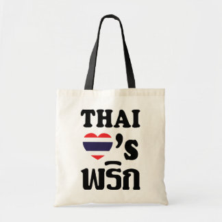 THAI LOVE PHRIK (CHILI) ❤ Thai Food Tote Bag