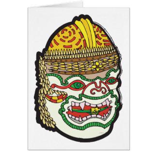 Thai Mask Greeting Cards
