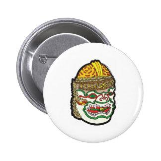 Thai Mask Pinback Button