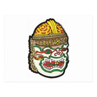 Thai Mask Post Card