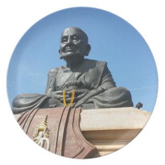 Thai monk, Luang Pu Tuad Melamine Plate