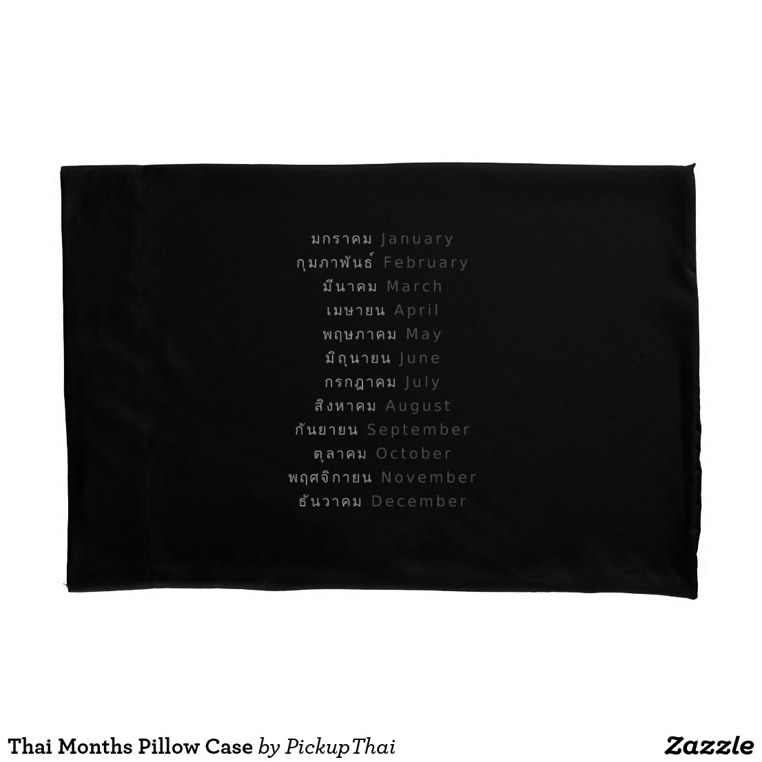 Thai Months Pillow Case